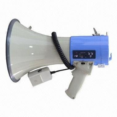 Мегафон, функции сирена, свисток и гонг, usb MP-30M+Li