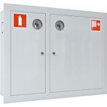 Шкаф пожарный встраиваемый закрытый белый Ш-ПК-О-002ВЗБ (ПК-315ВЗБ) лев