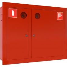 Шкаф пожарный встраиваемый закрытый красный Ш-ПК-О-002ВЗК (ПК-315ВЗК) лев.