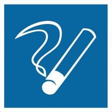 Знак или наклейка Пластик (D-03) Место курения