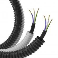 Гофрошланг с кабелем Труба ПВХ легкая серая D=20 + ВВГ-Пнг(А)-LS 3х1,5 (ГОСТ) (100м)