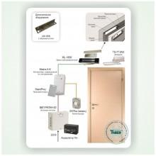 Автономная система контроля доступа на одну дверь с электромагнитным замком Типовое решение: СКУД-001