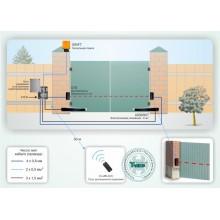 Автоматическая система контроля доступа для распашных ворот (привод линейного типа) Типовое решение: СКУД-010