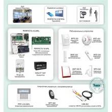 """Беспроводная система ОПС с контролем и оповещением по GSM каналу для защиты объектов небольшого и среднего размера на базе """"PERFECTA 16-WRL"""" Типовое решение: ОПС-058"""