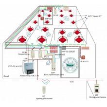 Беспроводная система пожаротушения, сигнализации и оповещения для складского помещения площадью 500 кв.м Типовое решение: СП-001